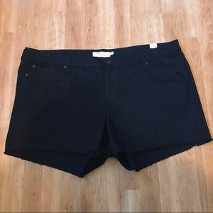 Torrid Black Denim Jean Shorts Sz 26